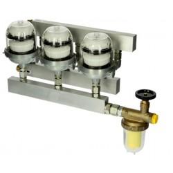 Degvielas atgaisotājs Tri-Oventrop ar degvielas filtru