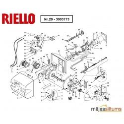 Elektromotors deglim Riello RL50,RS50+M