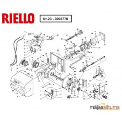 Skrūve vadīklai deglim Riello RL, RS 28-50