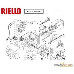 Motora kontaktors deglim Riello RL,RS38+M