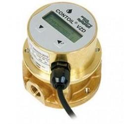 Degvielas skaitītājs Aquametro VZD8 1/4'' PN16 1-80 l/st. ar displeju un impulsu izeju
