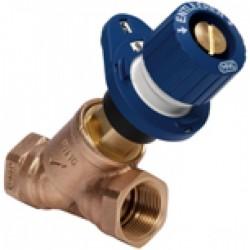 Balansinis vožtuvas Kombi-3-plus BLUE. Montuojamas grįžtamoje linijoje. PN16, Tmaks-130°C, DN15, Kvs-2,7. Vidinis sriegis.